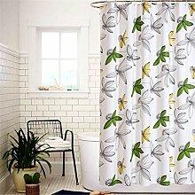 QEWA® Duschvorhänge PEVA Mouldproof Wasserdichte Bad Bad Duschvorhang Badezimmer Produkte Bad Vorhänge mit 12pcs Haken , 200*180cm
