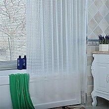 QEWA® Duschvorhänge Shower Curtains Vorhang EVA Wasserdicht Anti-Static Mouldproof Verdickt Nicht verblassen Transparent Badezimmer Trennwand Vorhang Bad Vorhang (78.74 * 78.74 Zoll) , 240 width 200 high + ring