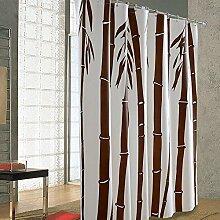 QEWA® Duschvorhang Shower Curtains Bambus-Druck Wasserdicht Schimmelresistent Verdickung 100% PEVA Badezimmer Trennvorhang Vorhänge (60 * 71-Zoll) , 220*180cm