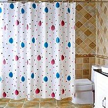 QEWA® Duschvorhang Shower Curtains PEVA Bad Vorhänge wasserdicht Mehltau resistent atmungsaktiv Verdickung Badezimmer Schnitt Vorhänge Badevorhänge (70.86 * 78.74 inch) , 200 width *180 high + ring