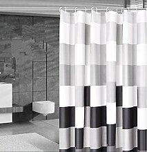 QEWA® Duschvorhang Shower Curtains Polyester Material Mildewproof Verdickte Badezimmer Ausstattung Keine Verformung verblasst nicht (80x180 cm) , 200*200cm