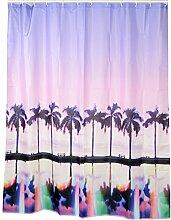 QEWA® Duschvorhang Shower Curtains Vorhang Polyester Farbdruck Wasserdicht Antistatisch Mouldproof Verdickt Nicht verblassen Badezimmer Trennwand Vorhang Badvorhang Mit C Haken (70,86 * 78,74 Zoll) , colors