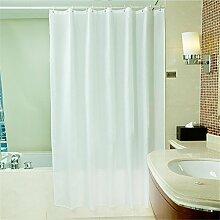 QEWA® Duschvorhang Shower Curtains Wasserdicht Schimmelresistent Verdickung 100% Polyester Badezimmer Trennvorhang Vorhänge Weiß (32 * 71 Zoll) , 120*200cm