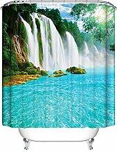 QEWA® Shower Curtains Bad Vorhang Strand Sommer Ozean Himmel Meer Natur Stoff Moderne Dusche Vorhang Badezimmer Wasserdichte Vorhänge Bad Dekor , 180*200cm