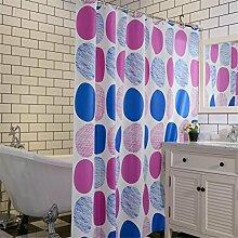 QEWA® Shower Curtains Duschvorhänge PEVA Dicker Buntes Drucken Wasserdichtes Mildewproof Badvorhang Badezimmer Separate Vorhänge (70,86 * 78,74 Zoll) , 120*200cm