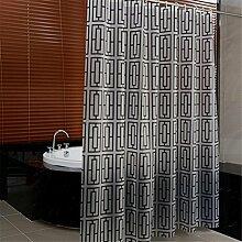 QEWA® Shower Curtains Duschvorhänge PEVA Dicker Druck Wasserdicht Mildewproof Kunststoff Bad Vorhang Badezimmer Separate Vorhänge mit Ring (70,86 * 78,74 Zoll) , 200*180cm