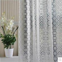QEWA® Shower Curtains Duschvorhänge PEVA Gedruckt Wasserdicht Mildewproof Opaque Scrub Badezimmer Duschvorhang mit Haken , 180*200cm
