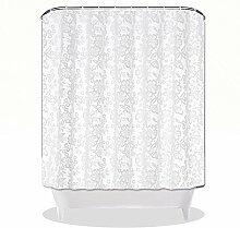 QEWA® Shower Curtains Duschvorhänge PEVA Wasserdichtes Mildewproof Opaque Scrub Badezimmer Duschvorhang mit Haken , 180*200cm
