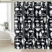 QEWA® Shower Curtains Duschvorhänge Polyester Dicker Karikaturdruck Wasserdichtes Mildewproof Badvorhang Badezimmer Separate Vorhänge (70.86 * 78.74 Zoll) , 220*200cm