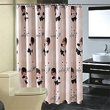 QEWA® Shower Curtains Duschvorhänge Polyester Karikatur gedruckt Wasserdicht Mildewproof Anti-Fog Badezimmer Duschvorhang mit Haken , 200*200cm