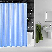 QEWA® Shower Curtains Duschvorhänge Seide Bunter Druck Dicker Wasserdichte Schimmelschutz Schattierung Bad Vorhang Badezimmer Separate Vorhänge Blau (70,86 * 70,86 Zoll) , 240*200cm