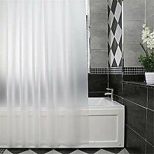 QEWA® Shower Curtains Duschvorhänge Vorhang PEVA Wasserdicht Schimmel Proof Feuchtigkeitsbeständig Opaque Scrub Badezimmer Stretch Kunststoff Duschvorhang Weiß , 240*200cm