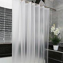QEWA® Shower Curtains Duschvorhänge Vorhang PEVA Wasserdicht Schimmel Proof Feuchtigkeitsbeständig Opaque Scrub Badezimmer Stretch Kunststoff Duschvorhang Weiß , 220*180cm