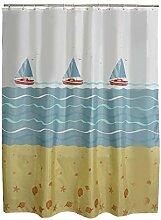 QEWA® Shower Curtains Duschvorhang Vorhänge Polyester-Gewebe Wasserdicht Schimmelfest Feuchtigkeitsbeständiges undurchsichtiges verdicktes Badezimmer bedecken den Vorhang mit Haken , curtain width 120*180 height songhuan