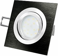 QF-2 Deckeneinbauleuchte flach eckig schwarz LED