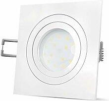QF-2 Deckeneinbaustrahler flach eckig weiß - LED