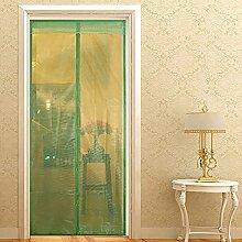 QF Magnet fliegengitter Tür insektenschutz Magnetvorhang Balkontür Hält Mücken,Haustierfreundlich-A 90x210cm(35x83inch)