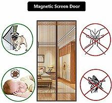QF Magnet fliegengitter Tür insektenschutz Magnetvorhang Balkontür Hält Mücken,Kleinkind und Hund Freundlich-A 120x210cm(47x83inch)