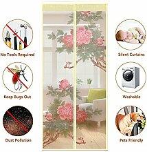 QF Magnet fliegengitter Tür insektenschutz Magnetvorhang Balkontür Fliegengitter Tür Magnet Hält mücken-95x210cm(37x83inch)