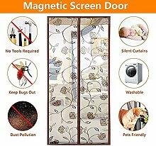 QF Magnetischer fliegengitter Fenster Magnetvorhang Balkontür Fliegengitter Tür Magnet Fliegengitter Tür insektenschutz-A 85x210cm(33x83inch)