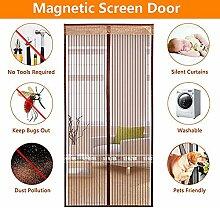 QF Magnetvorhang insektenschutz Fliegengitter Tür Magnet Insektenschutz Balkontür Halten Mücken Pet Out Friendly-Hände frei-100x210cm(39x83inch)