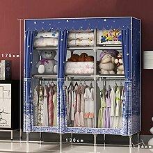 QFF Einfacher Garderoben-Haushalts-Kind-einfache moderne ökonomische Garderoben-Tuch-Lagerschrank (Farbe : # 5)