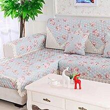 QFF Europäische-Stil Sofa Matte Herbst und Winter-Pad Stoff Kissen Modische dicke Anti-Rutsch-Sofa-Sets Handtuch Sets schwimmende Fenster-Pad ( größe : 90*210cm )