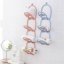QFFL Kreative Garderobe / Hut Lagerregal / Wand Kleiderbügel / Wand Kleidung Ablageboden (3 Farben erhältlich) Kleiderhaken ( Farbe : Pink )