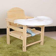 QFFL Multifunktions-fester hölzerner Baby-Stuhl / Kinder, die Stühle / kreativen justierbaren Schemel speist Outdoor Hocker