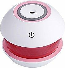 QFFL USB-Luftbefeuchter / Auslaufsicher / Nachtlicht / Stumm / Anti-Trocken Burn / Timing / Haushaltswagen-Luftbefeuchter Entfeuchter ( Farbe : Pink )