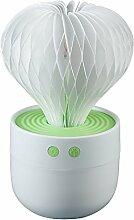 QFFL USB Luftbefeuchter / Beleuchtung / Mute / Timing / Ausschalten Schutz / Mini Portable / Haushalts Office Luftbefeuchter Entfeuchter ( Farbe : Grün )