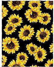 QH Decke Überwurf Fleecedecke Blume