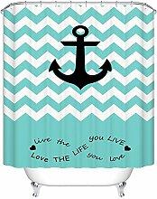 QH Home Dekoration Wasserdicht Polyester Stoff Badezimmer Design Duschvorhang 2