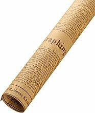 QHGstore 10pcs Zeitungs-Verpackungs-Papier Doppelseitige Partei-Geschenk-Blumen-Verpackungs-Dekor Kraftpapier Brown 52 * 75cm (± 1cm)