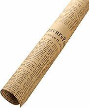 QHGstore 10pcs Zeitungs-Verpackungs-Papier Doppelseitige Partei-Geschenk-Blumen-Verpackungs-Dekor Kraftpapier Schwarzes 52 * 75cm (± 1cm)