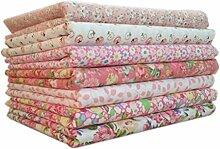 QHGstore 7 teile / satz baumwolle stoff zum nähen quilten patchwork heimtextilien rosa serie tilda puppe körper tuch