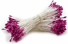 QHGstore Blumen-Doppelt-Tipps Perlen-Blumen-Stamen