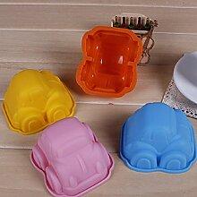 QHGstore Einfach DIY Auto-Mold-Kuchen-Form-Pl?tzchen-Scherblock-Fondant Bakeware Werkzeuge Zuf?llige Farbe