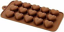QHGstore Einfach K¨¹che Herzform Silikon-Pl?tzchen Schokoladen-S¨¹?igkeit-Form, der Werkzeuge
