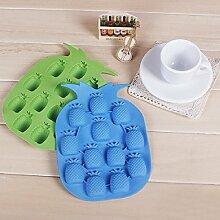 QHGstore Einfach Sch?ne Silikon Ananas Ice Mold Werkzeuge Schokoladen-Eis-Form Zuf?llige Farbe