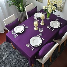 QHGstore Elegante Plain Farbe Lila Dinning Couchtisch Baumwolltuch Covering Lila 60*60cm