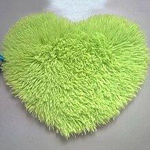 QHGstore Herz geformte rutschsichere Soft getufteter Teppich Mat Teppichboden Matten Bereichs Wolldecke Grün 30*40cm