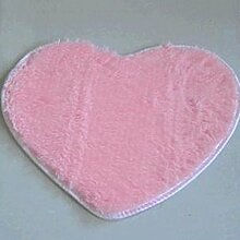 QHGstore Herz geformte rutschsichere Soft getufteter Teppich Mat Teppichboden Matten Bereichs Wolldecke Rosa 50*60cm