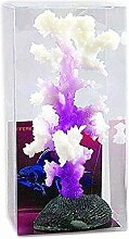 QHGstore Leuchtende Seeanemone Aquarium Künstliche Silikon Koralle Pflanze Aquarium Dekoration lila