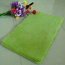 QHGstore Pleuche Anti Rutsch Schlafzimmer Teppich Tür Wolldecke Staubdichtes Plüsch Bad Bodenmatte Gras Grün 50*80cm