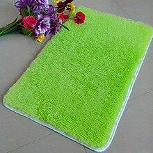 QHGstore Pleuche Anti Rutsch Schlafzimmer Teppich Tür Wolldecke Staubdichtes Plüsch Bad Bodenmatte Frucht grün 50*80cm