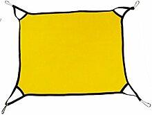 QHGstore Polar Fleece weichen Hund Katze Hängematten Bett Tier hängenden Katze Käfig innen Schlafsack Gelb