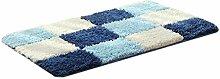 QHGstore Polyester-Faser-rutschfester Wasser-Absorption-Eintrag-Wolldecke-Innen- / im Freienfußboden-Matte blau 60*90cm