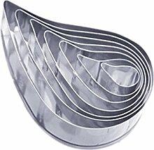 QHGstore Silikon-Form-Kuchen, der Werkzeuge Fondantform Cutter-Kuchen-Form