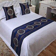 QHQH Bettläufer, Bettläufer Betttuch Bett Fahne